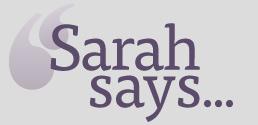 Sarah Says