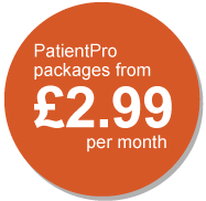PatientPro packages from £2.99 per month
